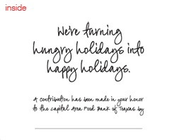 Inside CAFB Holiday Card