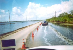 Flooding from Hurricane Ike