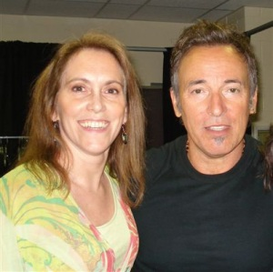 Susan Baughman, CAFB Board Member with Bruce Springsteen. Susan was the lucky winner of two ticket packages.
